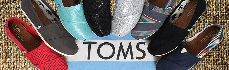 Toms Shoes selection Gresham Oregon